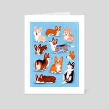 All the Corgis - Art Card by Susann Hoffmann