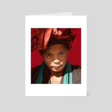 Peruvian woman - Art Card by Thomas BIGNON