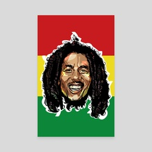 Bob Marley Head - Canvas by Nikita Abakumov