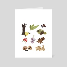 Spices variety - Art Card by Elena D