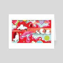 Red Room - Art Card by Kevin VQ Dam