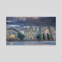 Barcelona cathedral - Canvas by Manjik Pictures