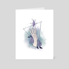Reaching - Art Card by Gabrielle Taphouse