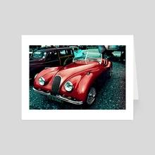 Vintage Car - Art Card by Michael Cain