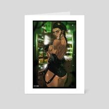 "Taina ""Caveira"" Pereira - Art Card by Alessandro Mazzetti"