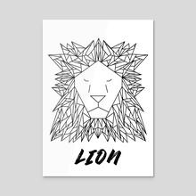 Geometric Lion - Acrylic by Alessio Mollo