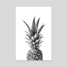 Pineapple Art - Canvas by Magda Opoka