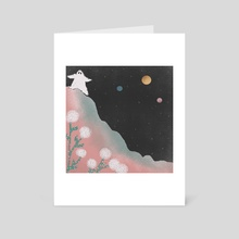 Ghost on Steep Hill  - Art Card by Daisy Sud