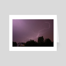 Thunder - Art Card by Oscar Manuel Calleja Hermosa