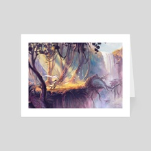 Playing in the Woods - Art Card by Gonzalo Kenny