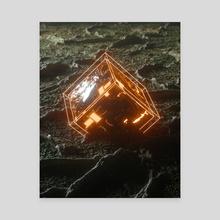 Cube - Canvas by Dennis Zeevat