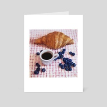 French breakfast - Art Card by Alexandre Clair