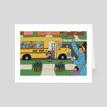 Back to School - Art Card by Mary Freelove