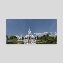 Behind White Temple, Chiang Rai. - Canvas by Parag Phadnis