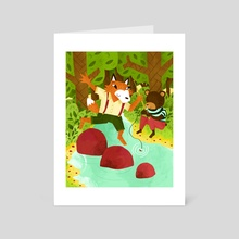 A Day At The Creek - Art Card by Tyler Parker