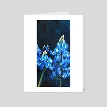 Conejo (Bluebonnets) - Art Card by Peyton Aufill