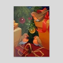 Love Birds - Acrylic by Chelsea Loren Edwards