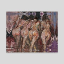 Pretty girls - Canvas by Yana  Ezar