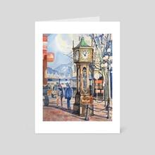 Steam Clock - Art Card by Tim Bennison