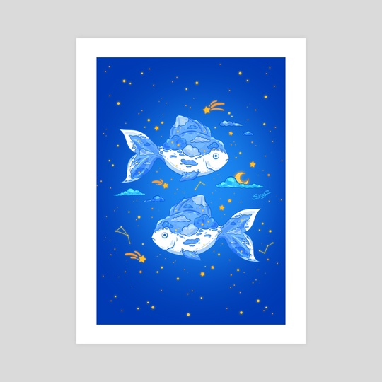 Cloud Fishes by Siny Cath