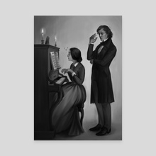 Piano Lessons - Canvas by Clarisse Silva