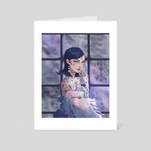 Ceramic painting - Art Card by Yokailia