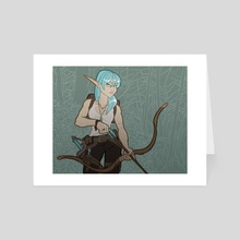 Bow and arrow - Art Card by Alexandra Presser