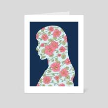 Nasturtium - Art Card by Stephanie Singleton
