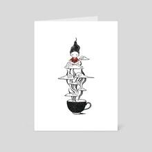 Zen Tea - Art Card by Indré Bankauskaité