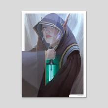 Elfin Dagger - Acrylic by Clint Cearley