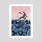 COBRA vs. Snake Eyes (Dawn Moreno) - Art Print by Brian Shearer