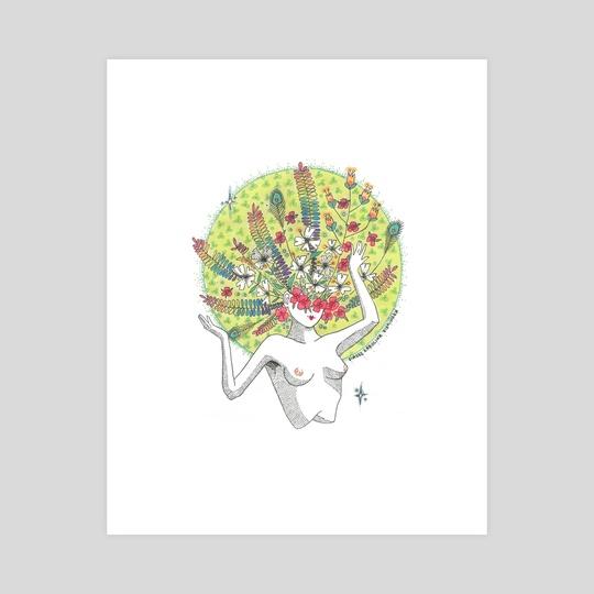 Floral Headdress by Diazee K.K. Allen