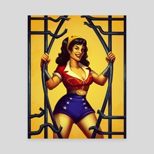 Bombshell Wonder Woman - Canvas by K. C. Garza