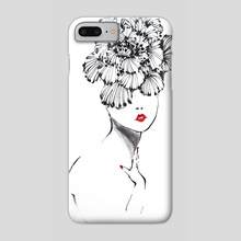 Hibiscus hat - Phone Case by Tei iji