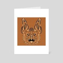 Bat O' Lantern - Art Card by Brittany Kanabar