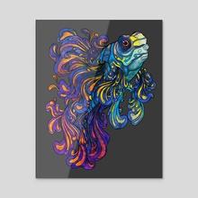 Dragonnet Mandarin - Acrylic by Marjorie Serra