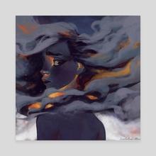 Smog - Canvas by Maria Tereshchenko