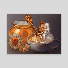 Milk & Honey - Canvas by Incantata Gallery