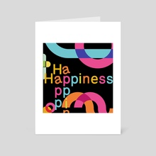 Typography 24 - Art Card by Michal Eyal