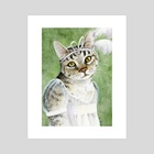 Mary Crawford as a Cat - Art Print by Kaaren Poole