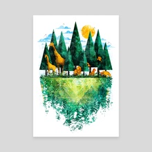 Geo Forest - Canvas by Fil Gouvea