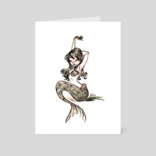 Mermaid  - Art Card by Susan Bibinski