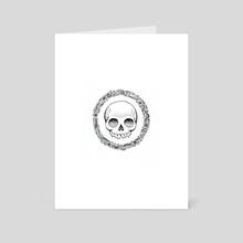 Floral Skull - Art Card by Abercrombie Murdoc