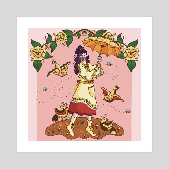 """Tip toe, through the mushrooms"" by Jade Judson"