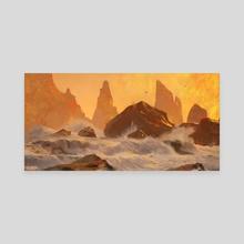 rocks and sea - Canvas by Jason Scheier