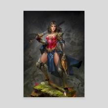 Wonder Woman - Canvas by Daniel Kamarudin