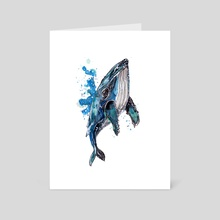 Blue Humpback Whale - Art Card by Sebastian Grafmann