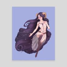 Aries Zodiac Sign - Purple - Canvas by Serena Archetti