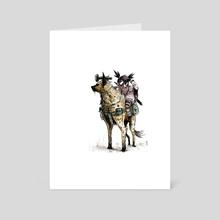 Post Apocalyptic Girl - Art Card by David Slebodnick