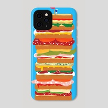 huge sandwich - Phone Case by Lucia Calfapietra